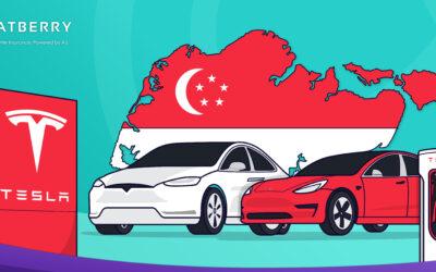 Tesla Berjaya Lancarkan Kereta Pertama Di Singapura