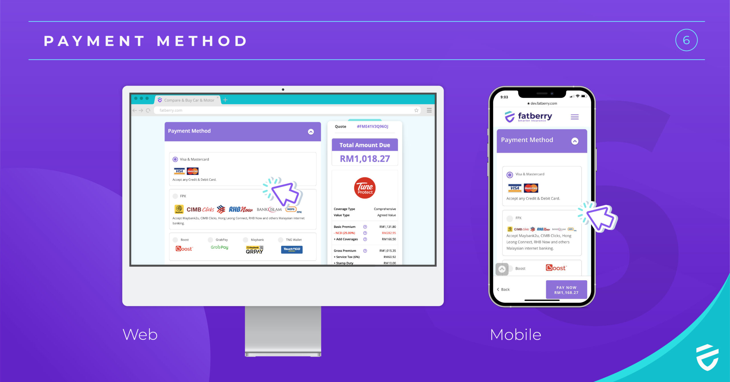 compare payment method